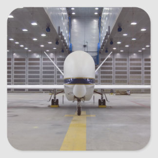 A front view of a Global Hawk unmanned aircraft Square Sticker