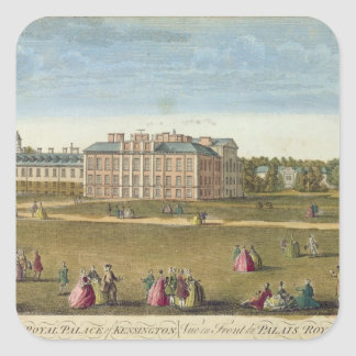 A Front View of the Royal Palace of Kensington Square Sticker