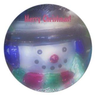 A Frosty Snowman Plate