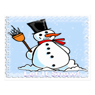 A Frosty Snowman Post Cards