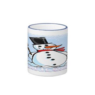 A Frosty Snowman Ringer Mug