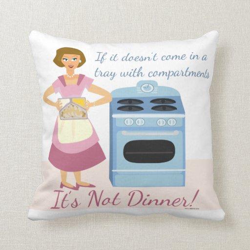 A Frozen Dinner Means Supper Throw Pillow