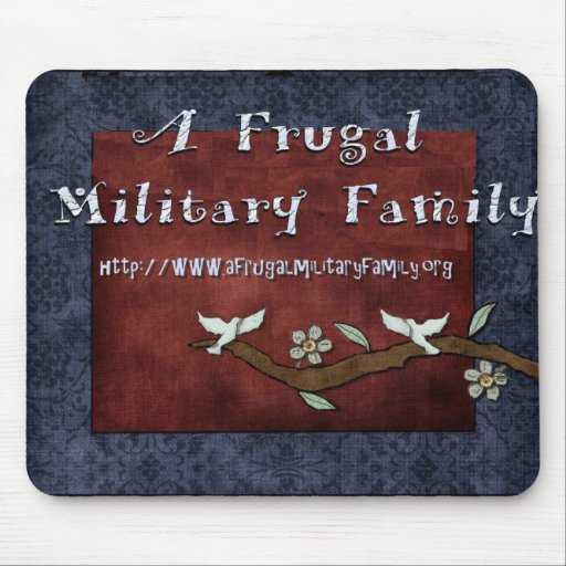 A Frugal Military Family Logo Mouse pad