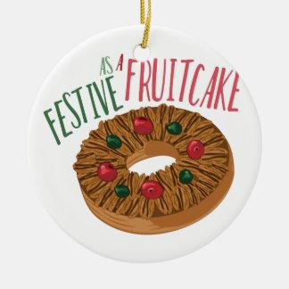A Fruit Cake Ceramic Ornament