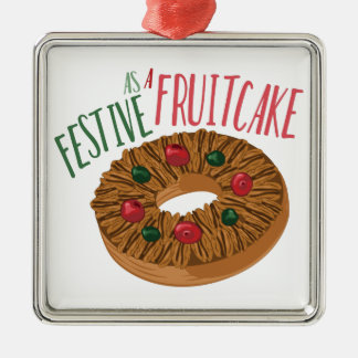 A Fruit Cake Metal Ornament