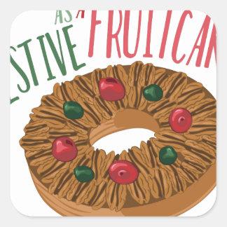 A Fruit Cake Square Sticker