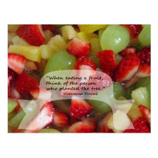 A Fruit Proverb Postcard