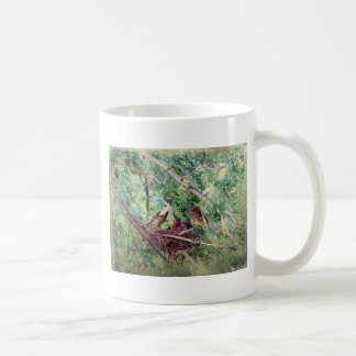 A Full Nest, Parents and Baby Birds Coffee Mug