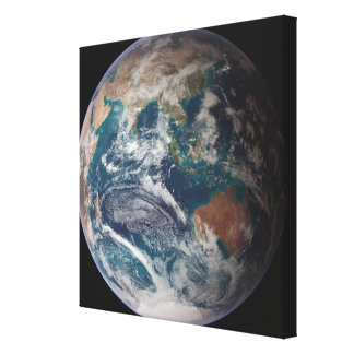 A full view of Earth showing global data 2 Gallery Wrapped Canvas