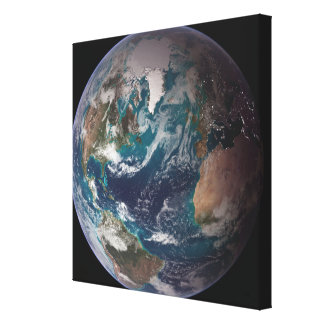 A full view of Earth showing global data Stretched Canvas Print