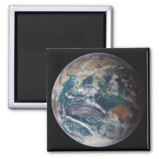 A full view of Earth showing global data 2 Inch Square Magnet