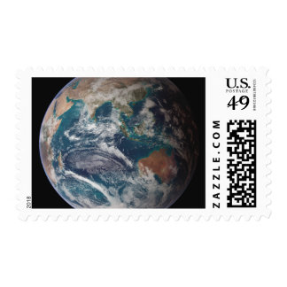 A full view of Earth showing global data Postage Stamps
