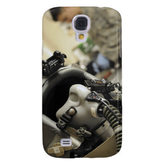 A fully assembled flight crew helmet galaxy s4 cover