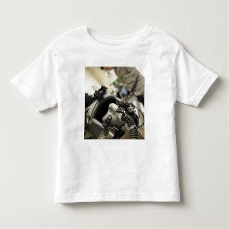 A fully assembled flight crew helmet toddler t-shirt