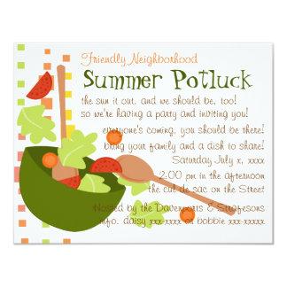 A fun and delicious salad 4.25x5.5 paper invitation card
