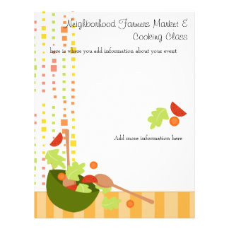 a fun and delicious salad flyer