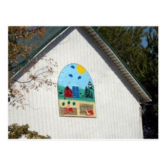 A Fun Barn Quilt Postcard