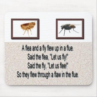 A Fun Flea & Fly In A Flue Mousepad