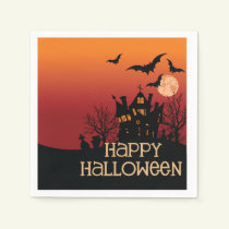 A Fun Place To Live Halloween Party Paper Napkins
