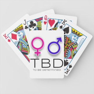 A fun way to announce you are having a baby. bicycle playing cards