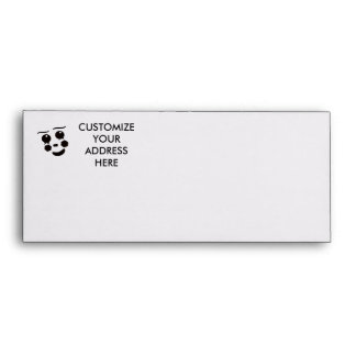 A fun whimsical clown face design graphic envelope