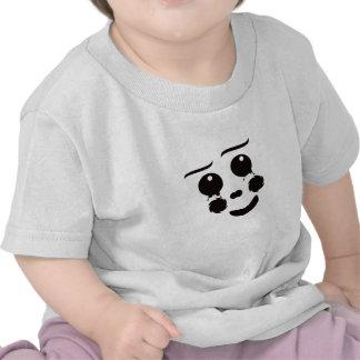 A fun whimsical clown face design graphic tshirt