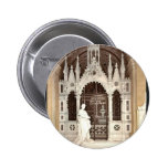 A funeral vault in the Campo Santo, Genoa, Italy v Pinback Button