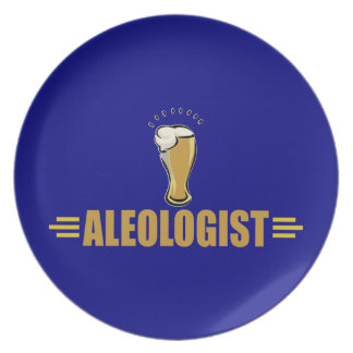 A Funny Beer Drinking Melamine Plate