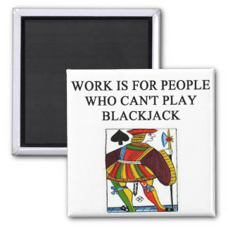 a funny blackjack joke magnets