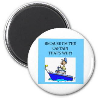 a funny boating captain joke 2 inch round magnet