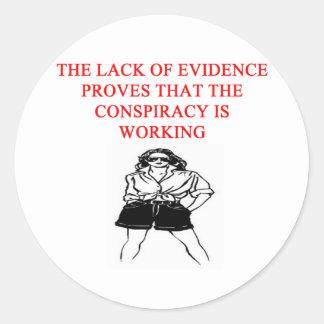 a funny conspiracy theory new afe joke sticker