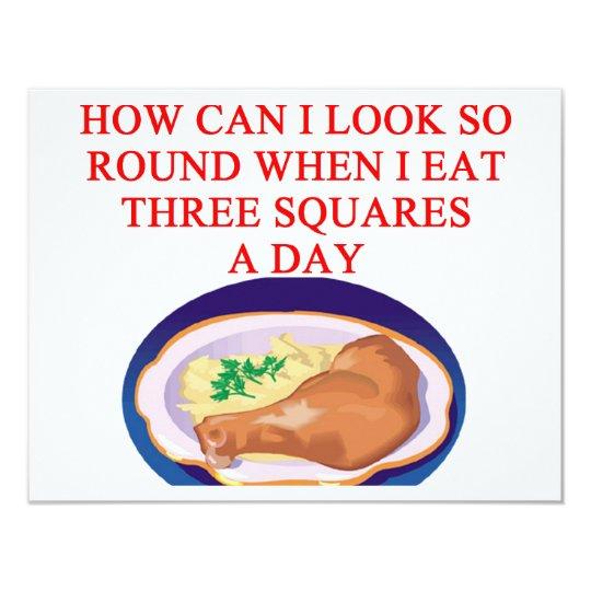 A funny diet joke card