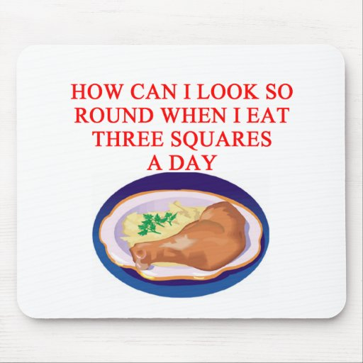 A funny diet joke mouse pad