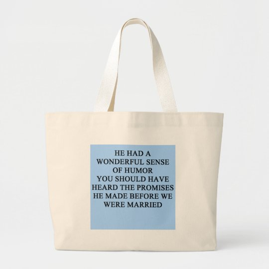 a funny divorce idea for you! large tote bag