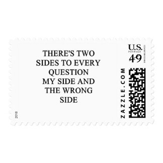 a funny divorce idea for you! postage stamp