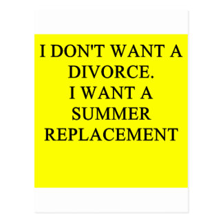 a funny divorce idea for you postcard