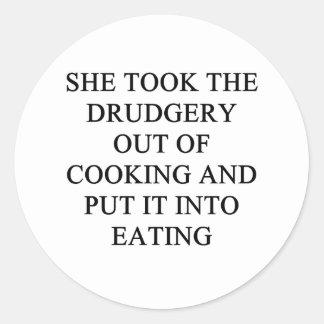 a funny divorce idea for you round sticker