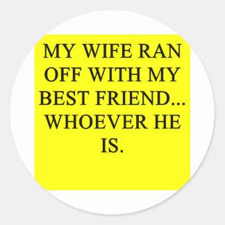 a funny divorce idea for you! sticker