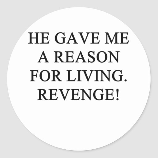 a funny divorce idea for you! classic round sticker