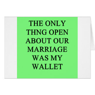a funny divorce  joke for men card