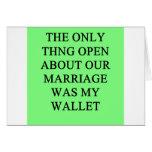 a funny divorce  joke for men greeting card