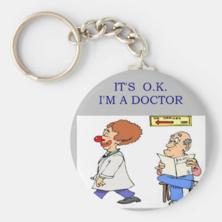 a funny doctor joke basic round button keychain