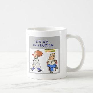 a funny doctor joke classic white coffee mug