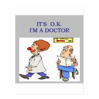 a funny doctor joke postcard
