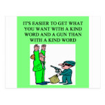 a funny gun proverb postcards