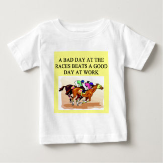 a funny horse player racing joke baby T-Shirt