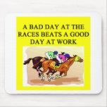 a funny horse player racing joke mouse pad
