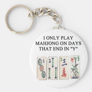 a funny mahjong design keychain