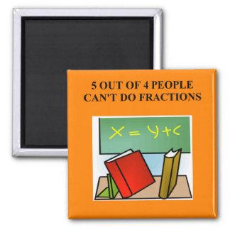 a funny math joke 2 inch square magnet