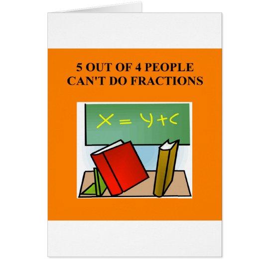 a funny math joke card